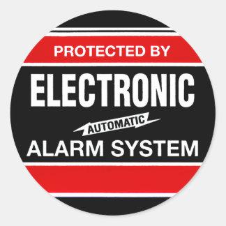 Système d'alarme électronique sticker rond