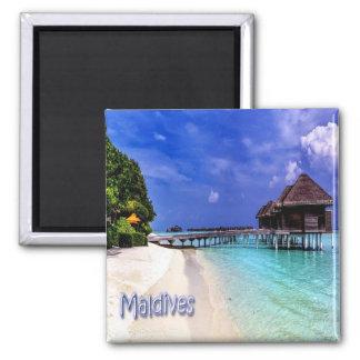 Système mv - Les Maldives - les Maldives Magnet Carré