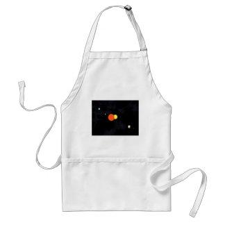 Système solaire avec une étoile binaire et quatre  tablier
