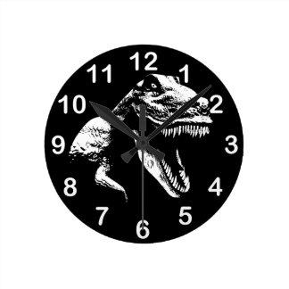 T blanc Rex Horloge Ronde