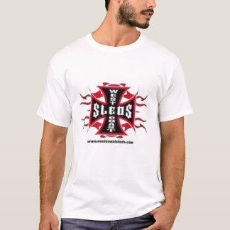T des hommes de SSleds de côte ouest T-shirt