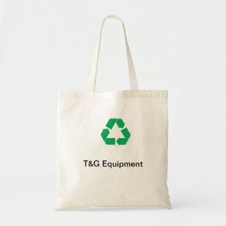 T et G réutilisant le sac à provisions