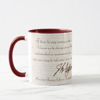 T. Jefferson : Opinion et raison - tasse #2