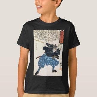 T-shirt 宮本武蔵 de Musashi Miyamoto avec deux Bokken