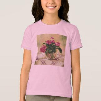 T-shirt 0511 violettes africaines dans le planteur