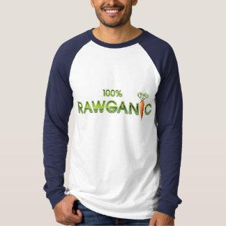 T-shirt 100% nourriture crue de Rawganic - carotte