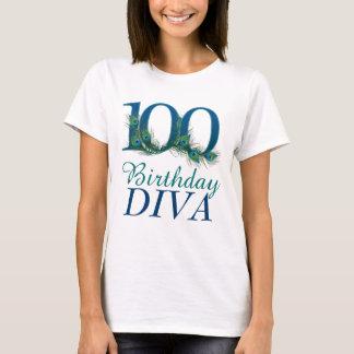 T-shirt 100th Chemises de diva d'anniversaire