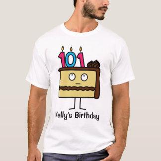 T-shirt 101st Gâteau d'anniversaire avec des bougies