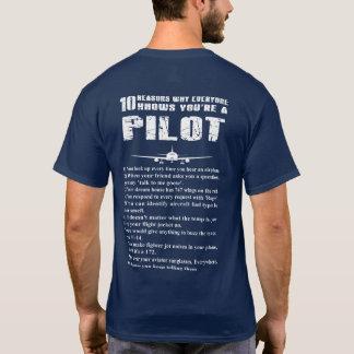 T-shirt 10 raisons sait pourquoi vous êtes un pilote