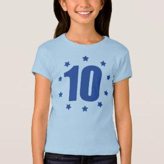 T-shirt 10ème pièce en t d'ANNIVERSAIRE de DIX étoiles