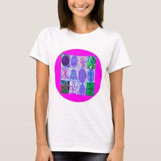 T-shirt 12 Reiki n Karuna Reiki signe - la frontière rose