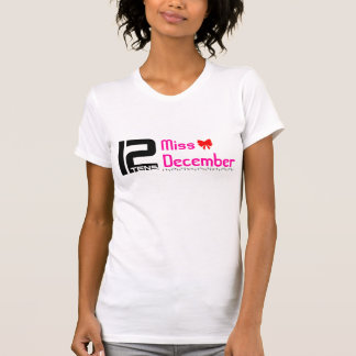 T-shirt 12tens pièce en t de la Mlle décembre