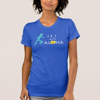 T-shirt 13,1 avec Aloha l'amende américaine Jersey T