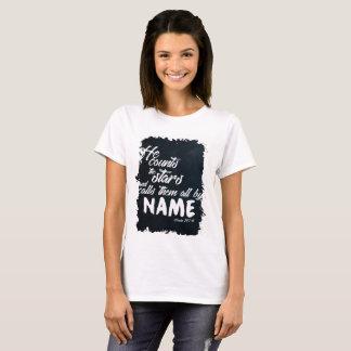T-shirt 147:4 de psaume - il compte les étoiles