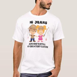 T-shirt 16ème Cadeau d'anniversaire de mariage pour lui