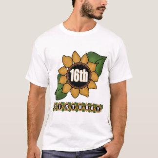T-shirt 16èmes cadeaux d'anniversaire de tournesol