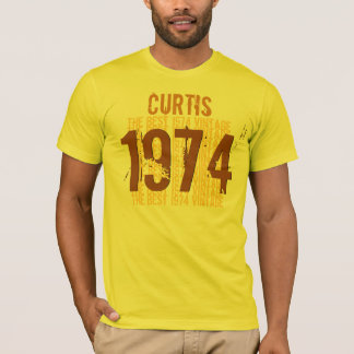 T-shirt 1974 quarantième anniversaires ou tout JAUNE