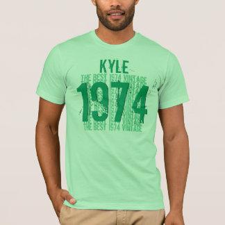 T-shirt 1974 quarantième anniversaires ou tout VERT