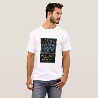 T-shirt 2017 éclipse solaire totale - Scottsbluff, Ne