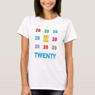 T-shirt 20ème GIF ÉLÉGANT vingtième anniversaire de