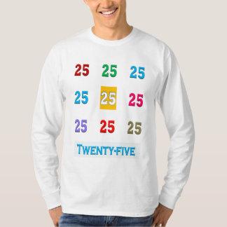 T-shirt 25 25èmes vingt-cinquièmes CADEAUX d'anniversaire