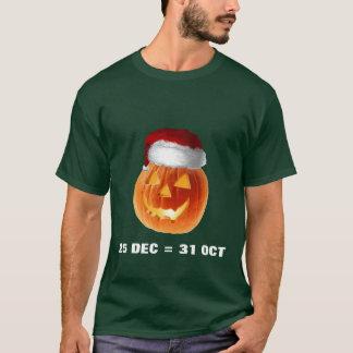 T-shirt 25 décembre = 31 octobre