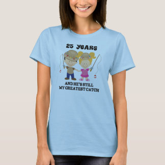 T-shirt 25ème Cadeau d'anniversaire de mariage pour elle