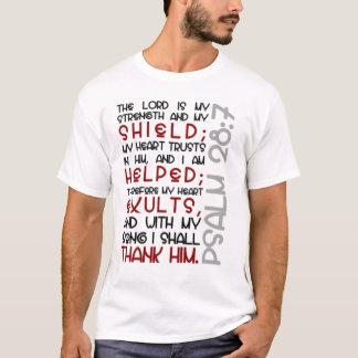 T-shirt 28:7 de psaume