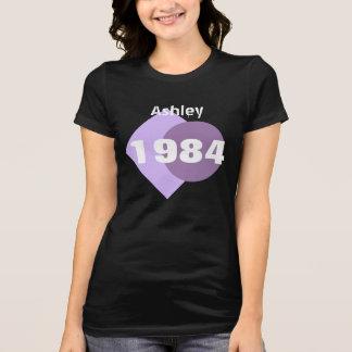 T-shirt 30ème Cadeau d'anniversaire 1984 géométrique avec