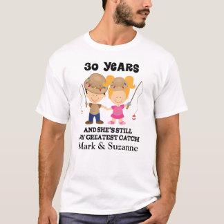 T-shirt 30ème Cadeau fait sur commande d'anniversaire pour