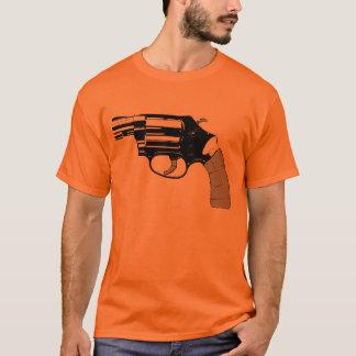 T-shirt .38 pièce en t d'orange de revolver de parrain de