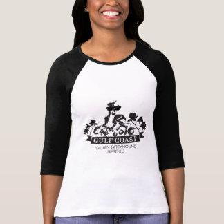 T-shirt 3/4 chemise de lévrier italien de Côte du Golfe