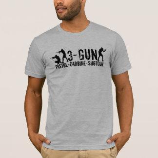 T-shirt 3-Gun - Pistolet - carabine - fusil de chasse