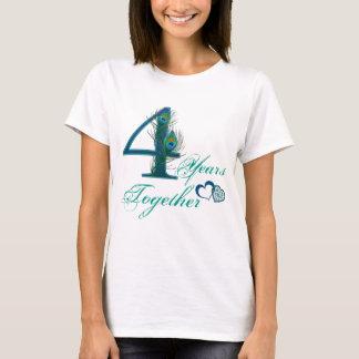 T-shirt 4ème anniversaire/4/4ème/numéro 4