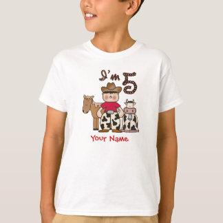 T-shirt 5ème anniversaire de cowboy