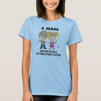 T-shirt 6ème Cadeau d'anniversaire de mariage pour elle