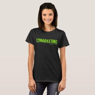 T-shirt 72Marketing noir et femmes au néon de signature