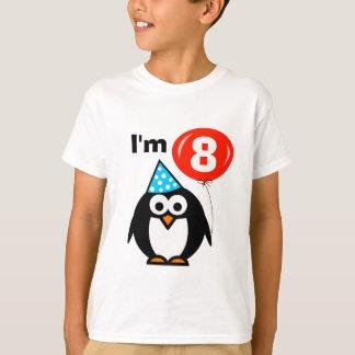 T-shirt 8ème pingouin de la chemise | d'anniversaire