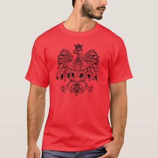 T-shirt à l'encre noire polonais de Chicago