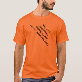 T-shirt à l'envers