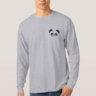 T-shirt À Manches Lomgues Brodée Douille de Panda® d'amour longue