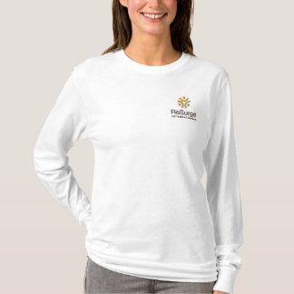 T-shirt À Manches Lomgues Brodée Douille des femmes de ReSurge la longue