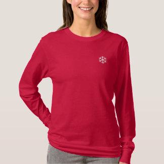 T-shirt À Manches Lomgues Brodée Flocon de neige