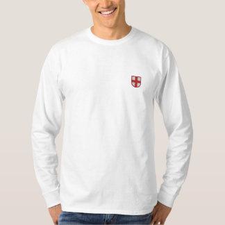 T-shirt À Manches Lomgues Brodée L'Angleterre a brodé la longue chemise de douille