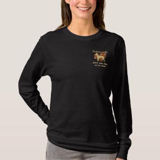 T-shirt À Manches Lomgues Brodée Les empreintes de pattes de congé de