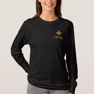 T-shirt À Manches Lomgues Brodée NOLA Fleur De Lis