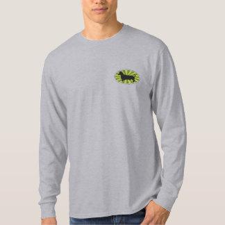 T-shirt À Manches Lomgues Brodée Vert-Starburs ovale de teckel