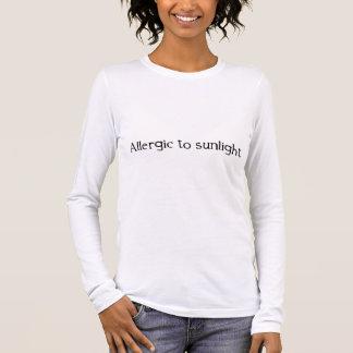 T-shirt À Manches Longues Allergique à la lumière du soleil