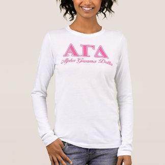 T-shirt À Manches Longues Alpha lettres gamma de rose de delta