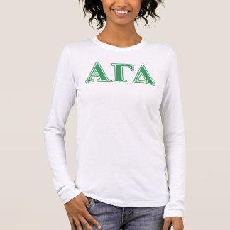 T-shirt À Manches Longues Alpha lettres gamma de vert de delta